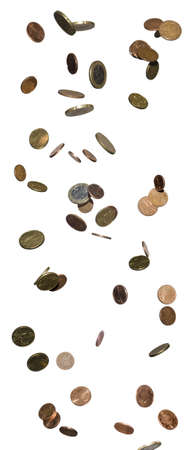 money falling from top in high resolution Standard-Bild