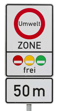 umweltzone -  german traffic sign