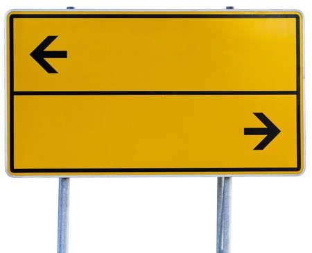 gelben Wegweiser Lizenzfreie Bilder