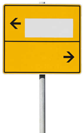 ortsschild: yellow direction sign Stock Photo