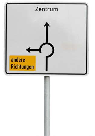 ortsschild: white direction sign