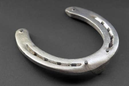 horseshoe closeup in dark back Stock Photo - 15879516