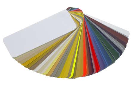 Studiofotografie einer Ausbreitung Farbkarte mit Clipping-Pfad