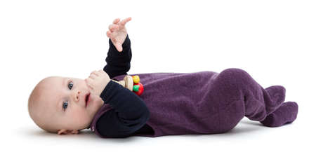 gewgaw: young child isolated on white background looking to camera Stock Photo
