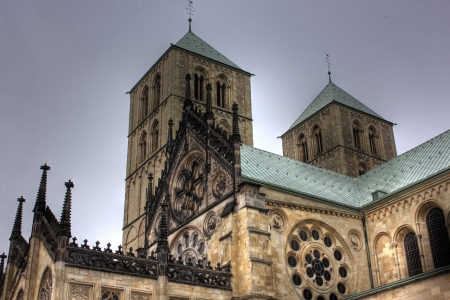 paulus: St  Paulus cathedral in Muenster, Germany Stock Photo