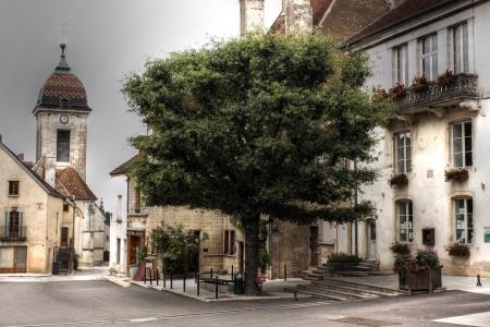 catholism: Church at Pesmes, Burgundy - France