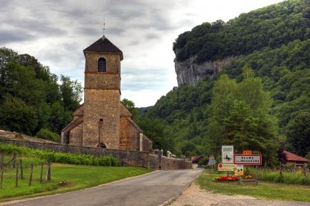 catholism: Church at Baume les Messieurs, Burgundy - France Stock Photo