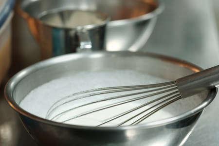 Mix milk and cream make for dessert