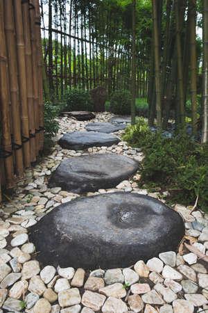 Walk path of stone in gardent