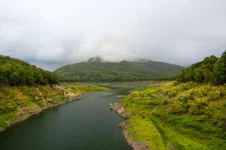 Landscape of barrage ,Catchment dam Banco de Imagens