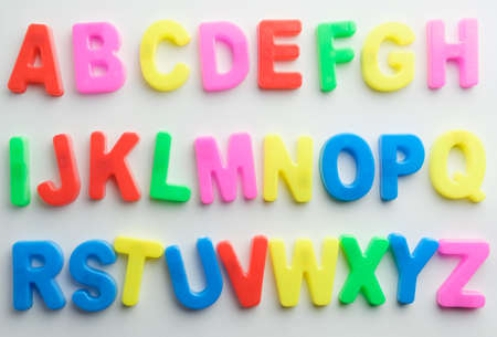 Letter to learn spelling,Colorful letter help children to learn on white background and copy space