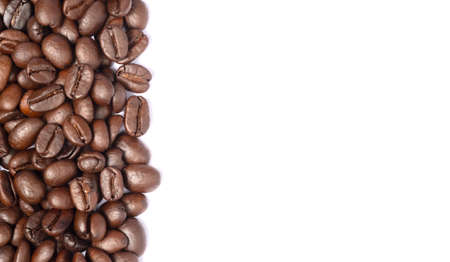 Bean coffee in isolated white background,copy space Stockfoto