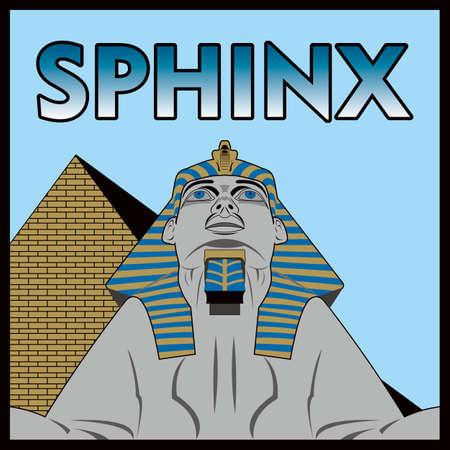 sphinx: sfinge egizia in formato vettoriale Vettoriali
