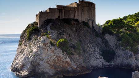 Fortress Lovrijenac is a Game of Thrones Shooting Set in Dubrovnik 版權商用圖片