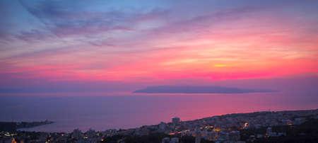 Beautiful Sunset in Makarska, Croatia Stock Photo