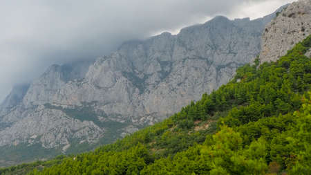 Biokovo Mountains in Markarska, Croatia Stock Photo