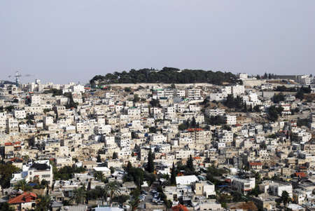 Panorama of East Jerusalem in the early morning photo