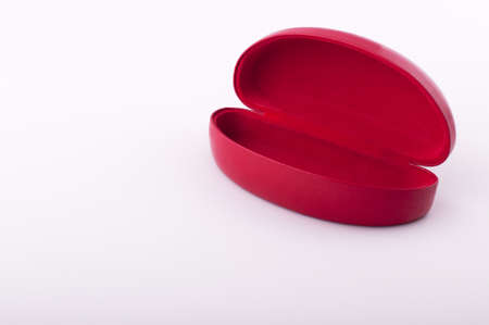 Red patent foramen box on a white background Stock Photo - 8611202