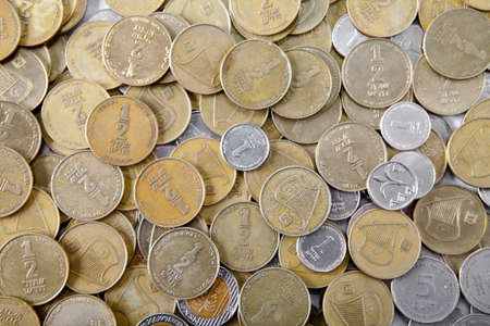 coins of various sizes and dignity Shekel Stock Photo - 8903893