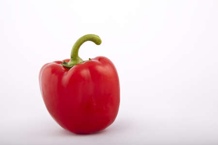 red peppers on a white background Imagens