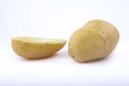 potatos on a white background