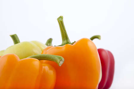 peppers on a white background Imagens