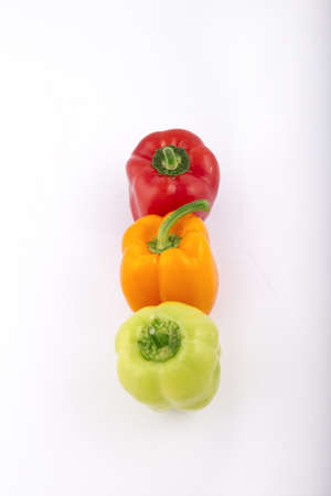 peppers on a white background photo