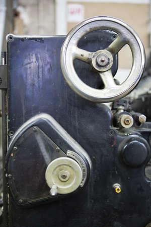 metal handle manual printing press photo