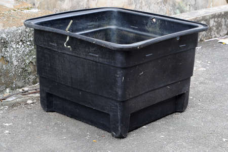 Used poly water tank for house usage. Stock Photo - 11116679
