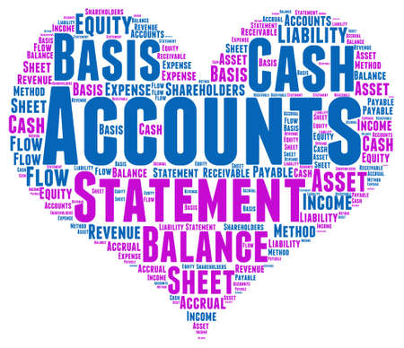 accounts payable: Account Word Cloud Illustration In Love Heart Shape