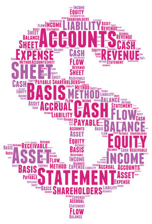 accrual: Account Word Cloud Illustration In Money Shape