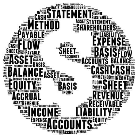 accounts payable: Account Word Cloud Illustration In Money Shape