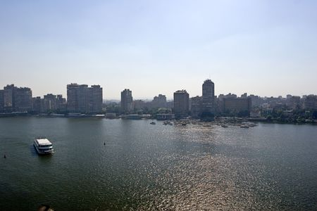 nile: Cairo view, by the Nile. Stock Photo