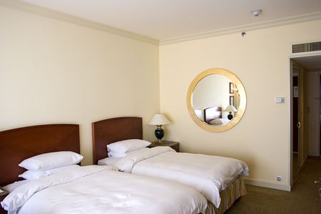 nice accommodations: Business Hotel room Stock Photo