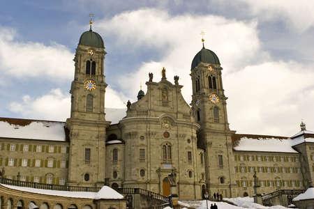 benedictine: Fotos de la abad�a benedictina de Einsiedeln, Suiza.