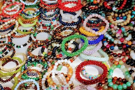 Beautiful bracelet of crystal ball in beautiful colors 写真素材 - 123663354