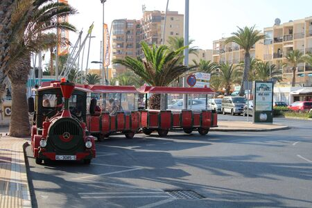 Fun places of leisure and tourism in Roquetas de Mar of Almería , Spain on July 14 , 2019 Reklamní fotografie - 133073038