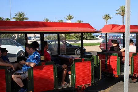 Fun places of leisure and tourism in Roquetas de Mar of Almería , Spain on July 14 , 2019 Redakční