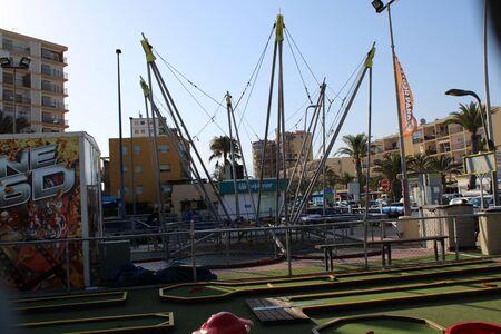 Fun places of leisure and tourism in Roquetas de Mar of Almería , Spain on July 14 , 2019 Reklamní fotografie - 133073045