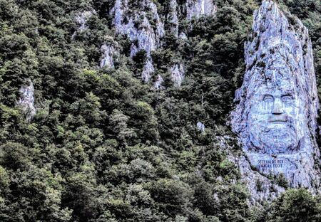 Image carved in the mountain by a Dacian leader in Rumania