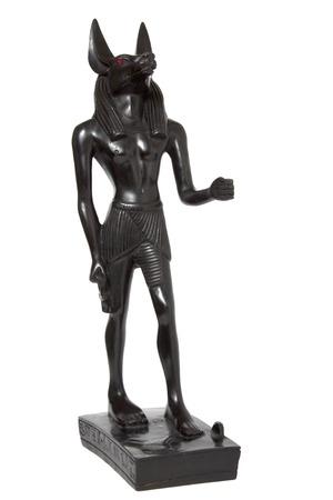 anubis: ancient Egyptian god Anubis death on a white background Stock Photo