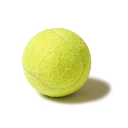 yellow ball tennis Foto de archivo