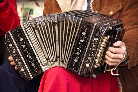 bandoneon: Bandoneon player playing tango