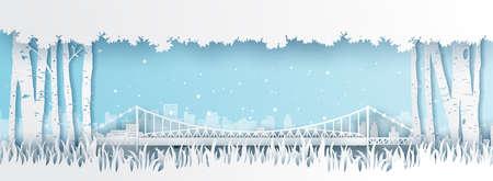 Panorama of top world famous landmark of Brazil,paper cut style vector illustration. Vecteurs