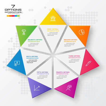 Vector star for infographic,Business concept with 7 options.