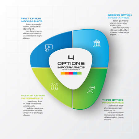 Business infographics 4 steps,Abstract design element,Vector illustration.