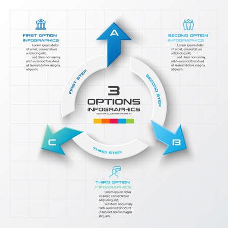 3 steps arrow infographic element,Business concept,Vector illustration.