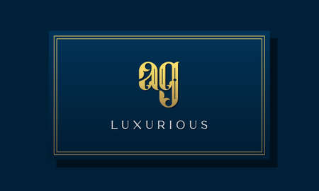 Vintage royal initial letter AG logo. This logo incorporate with luxurious typeface in the creative way.It will be suitable for Royalty, Boutique, Hotel, Heraldic, fashion and Jewelry.
