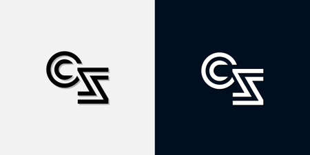 Modern Abstract Initial letter CS . This icon incorporate with two abstract typeface in the creative way.It will be suitable for which company or brand name start those initial.