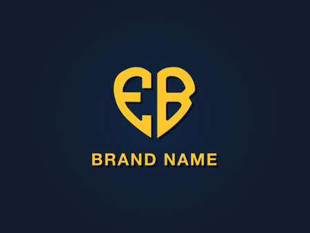 Minimal love initial letter EB logo. This icon incorporate with two love shape typeface in the creative way.It will be suitable for which company or brand name start those initial. Stock Illustratie